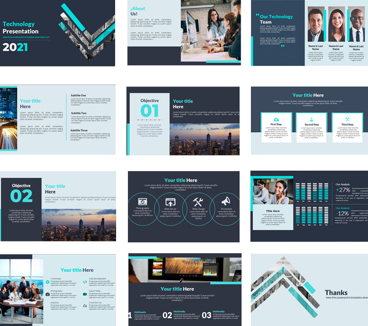 information technology powerpoint templates