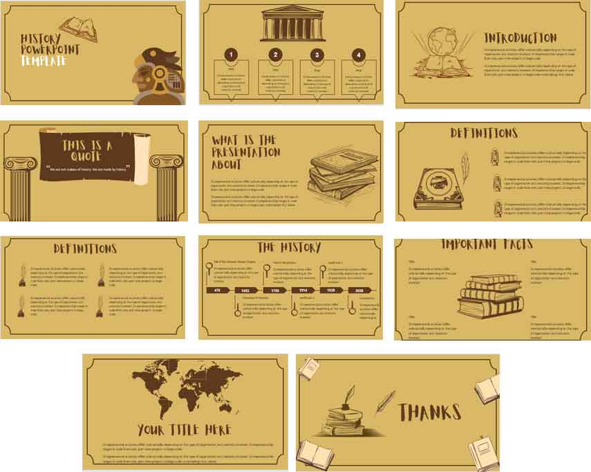 History PowerPoint Templates for Education 2