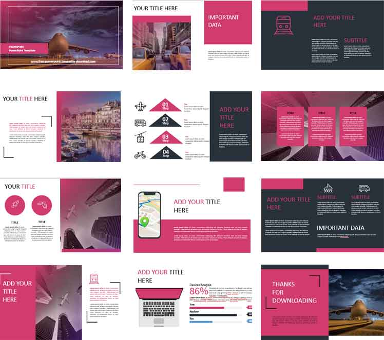 Preview Transport PowerPoint Templates