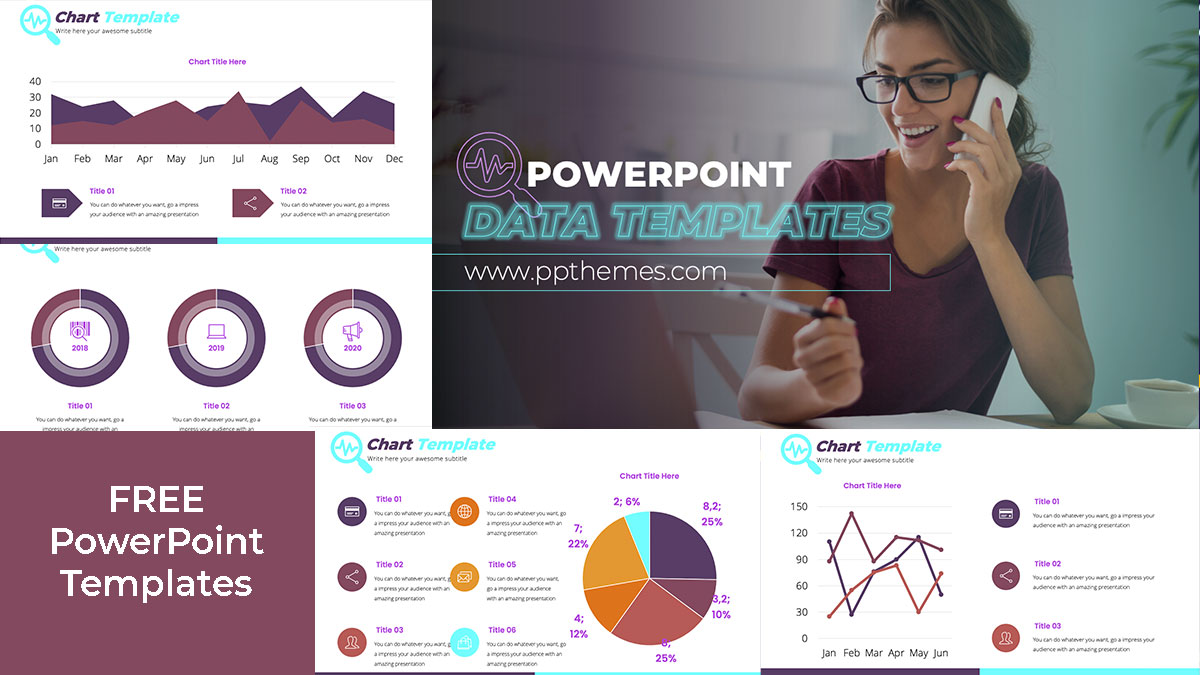 Data excel PowerPoint Templates