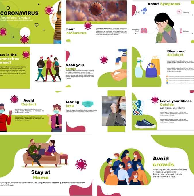 Screenshot coronavirus powerpoint template
