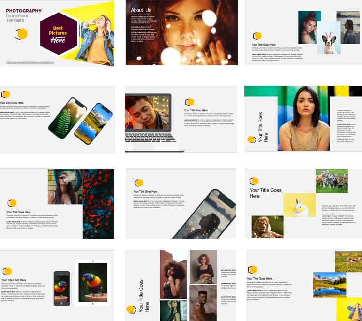 Screenshot Modern and simple Photography PowerPoint Template