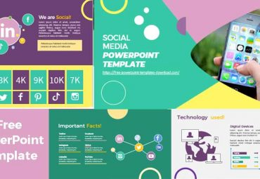 Preview images social media powerpoint templates