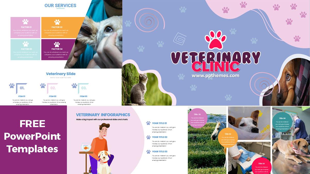 Veterinary Cliclin PowerPoint Templates Presentation