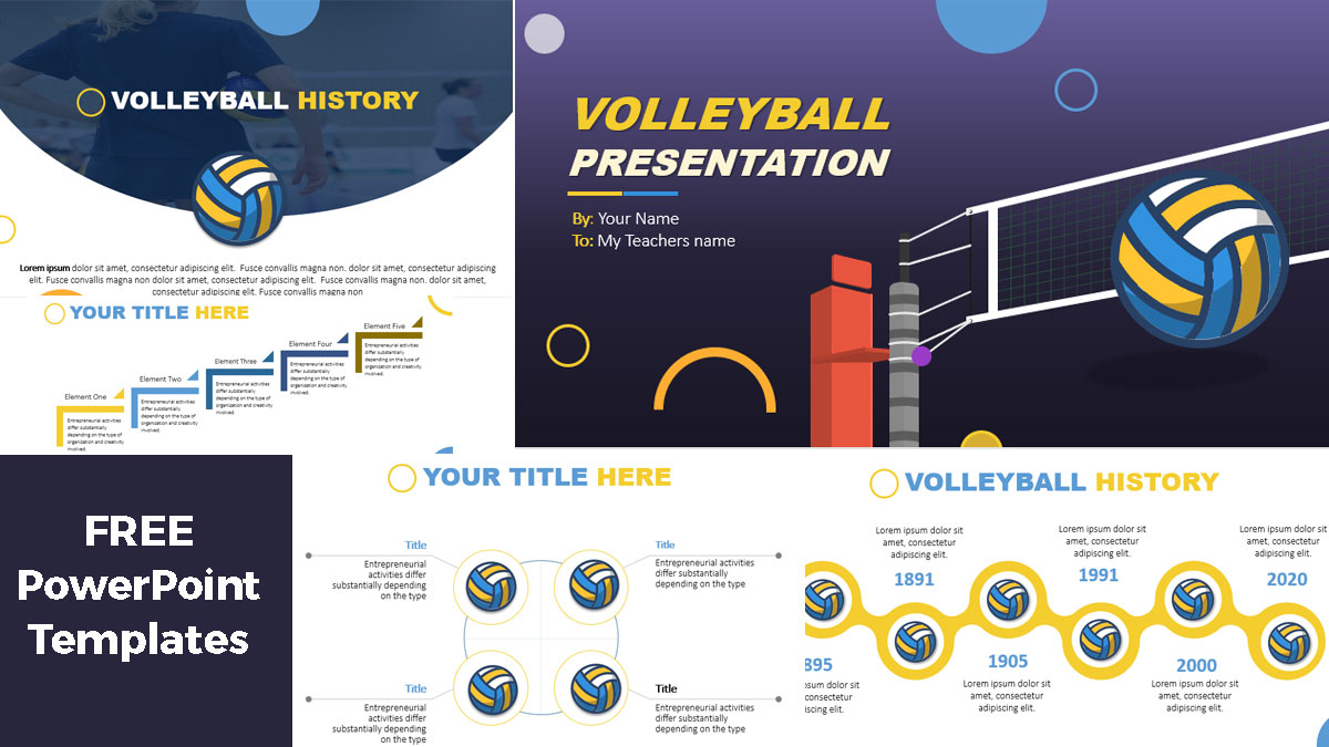 volleyball presentation powerpoint templates